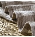 Vintage Light Grey Plaid Print 100% Cotton Quilt