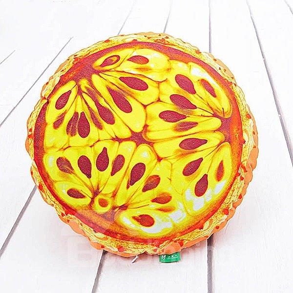 Vivid Kok Melon Shaped Pattern PP Cotton Throw Pillow