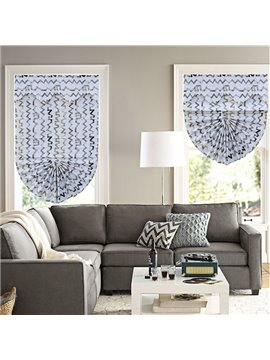 Modern Decor Abstract Chevron Roman Shades