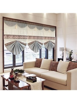 Modern Color Block Blending Blackout Roman Shades