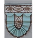 European Style Blue Curtain with Damask Pattern Roman Shades