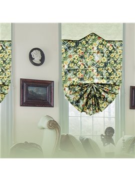 Decorative Oil Painting Yellow Daisy Print Roman Shades