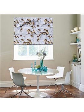 Home Decor Clip Art Ginkgo Print Roman Shades
