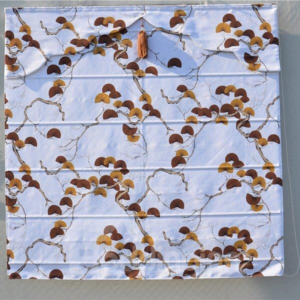 Home Decor Clip Art Ginkgo Print Roman Shades