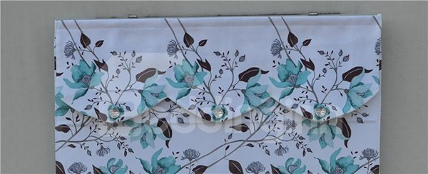 Country Style Blue Vine Flowers Print Roman Shades