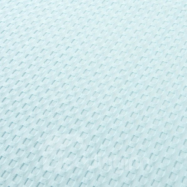 Breathable Solid Sky Blue Jacquard Cotton Air Conditioning Quilt