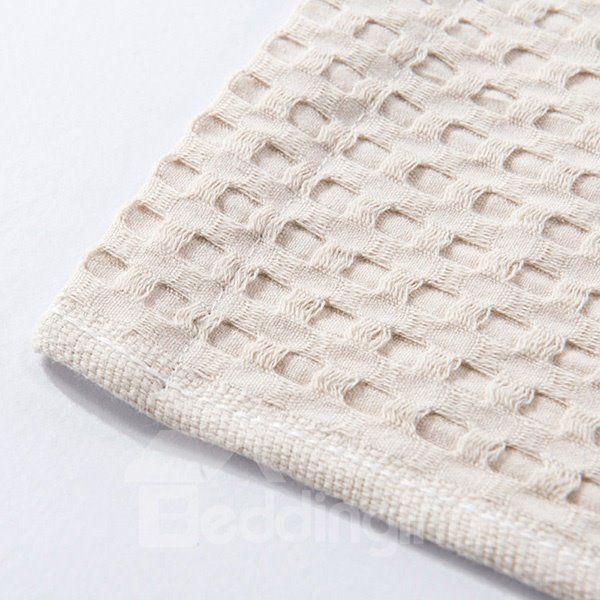 Lightweight Solid Beige Jacquard Cotton Air Conditioning Quilt