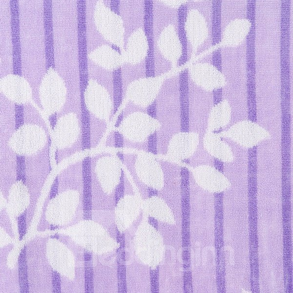 Noble Purple Leaves Jacquard Cotton Towel Quilt