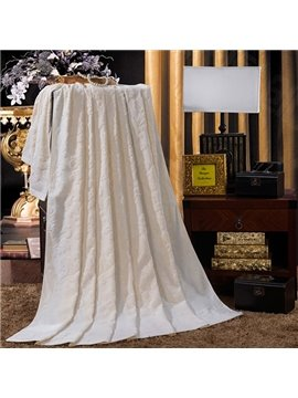 Urban Concise Light Beige Jacquard Cotton Towel Quilt