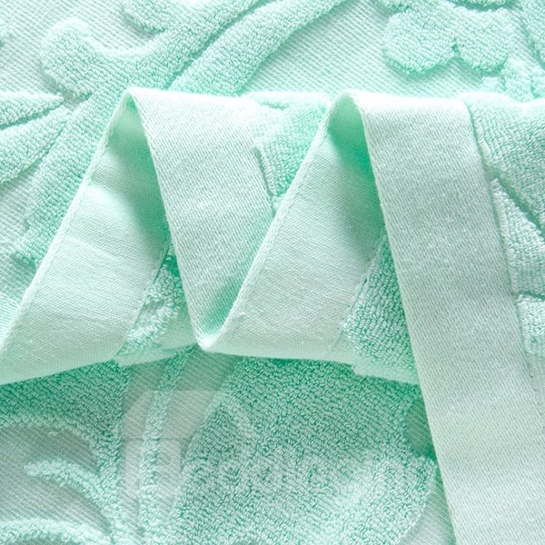 Noble Jade Green Jacquard Cotton Towel Quilt