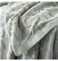 Retro Style Light Gray Cotton Jacquard Towel Quilt