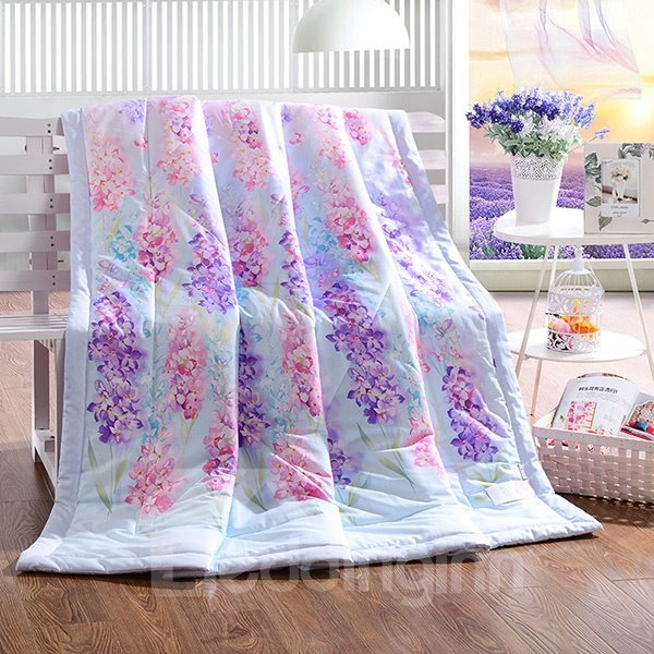 Fabulous Lavender Print Cotton Air Conditioning Quilt 12207348