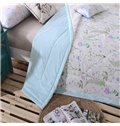 American Pastoral Style Exquisite Flower Cotton Quilt