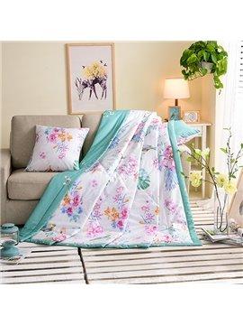 Idyllic Style Elegant Floret Print Cotton Quilt