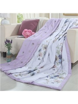 Adorable Flower Print Reversible 100% Cotton Quilt
