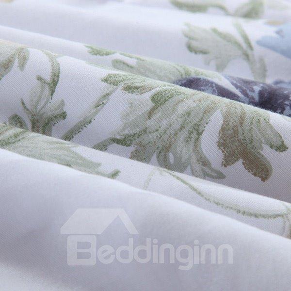 Adorable Flower Print Reversible 100% Cotton Quilt