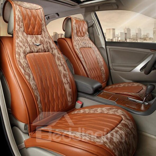 Luxurious PU Leather Material And Strong Fashional Design Universal Car Seat Cover