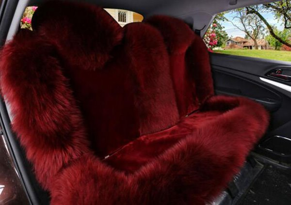 Luxurious And Durable Wool Material Charming Universal Car Seat Cover