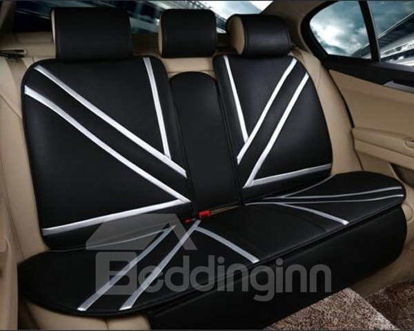 Colorful Union Jack Style Popular PU Leather Universal Car Seat Cover