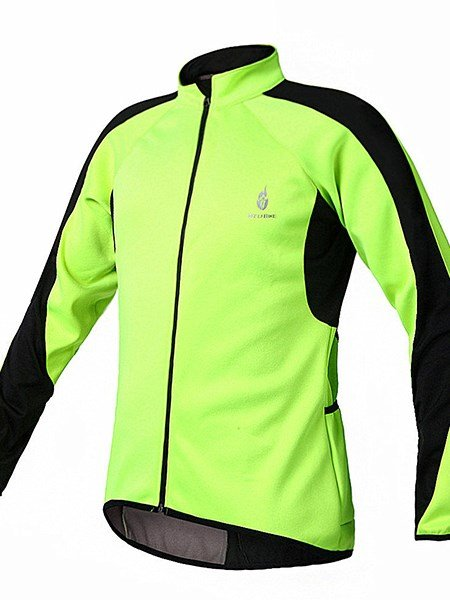 Male Fleece Long Sleeve Warm Road Bike Jersey Windproof Cycling Jersey