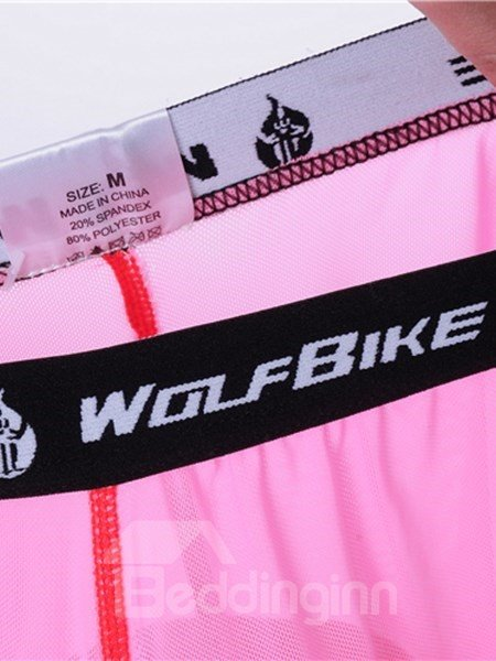 Female Pink Breathable Road Bike Underwear Quick-Dry Cycling Shorts