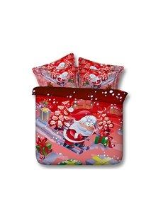 Festal Santa Claus Print 5-Piece Comforter Sets