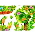 Bright Flower Bird and Butterfly Print PVC Kids Room Wall Decals
