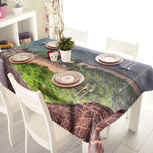 Magnificent Polyester Great Wall Pattern 3D Tablecloth