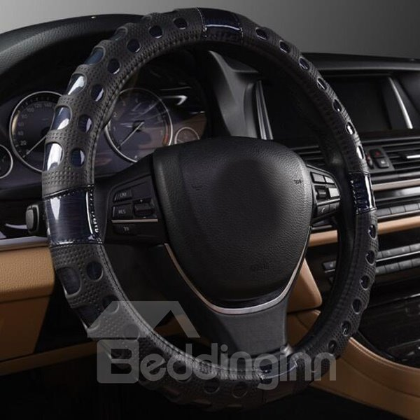 Fashionable New Style Breathable Leather Steering Wheel Cover