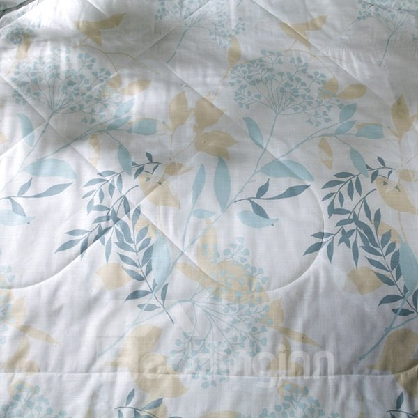 Noble European Style Leaves Print Air Conditioner Quilt
