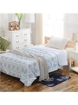 Minimalist Style Stripes Print Blue Air Conditioner Quilt