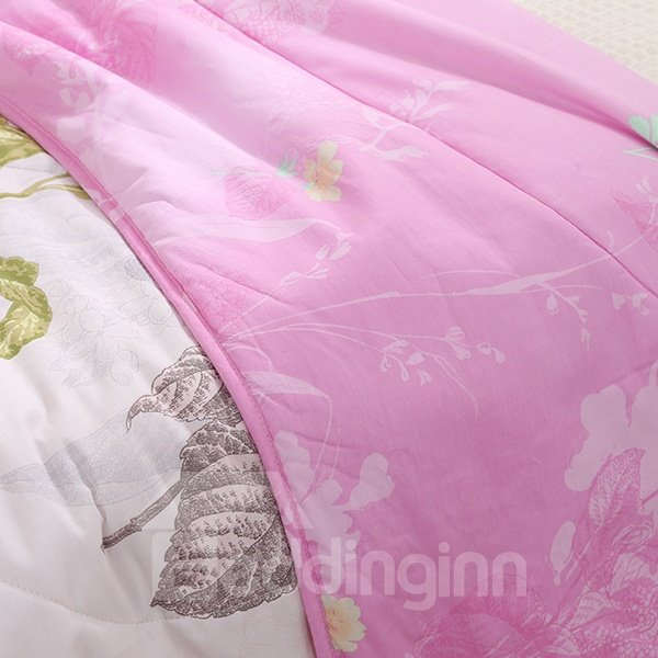 Lightweight Beautiful Purple Lilac Print Cotton Quilt