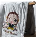 Lovely Baby Monkey Print 100% Cotton Quilt