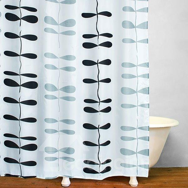 Bathroom Decor Concise Black Dragonfly Shower Curtain