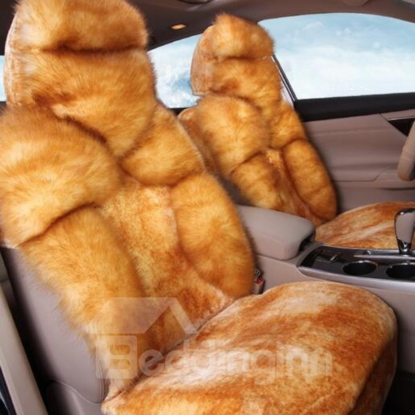 Super Luxury Short Plush Material Warm Car Seat Cover