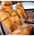Super Luxury Short Plush Material Warm Car Seat Cover