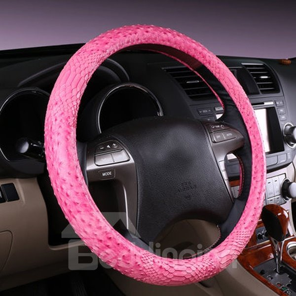Solid Fashional Design And Charming Leather Steering Wheel Cover