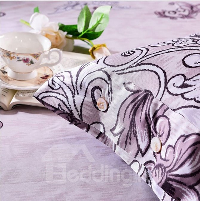Noble Jacobean Pattern 100% Cotton 4-Piece Duvet Cover Sets