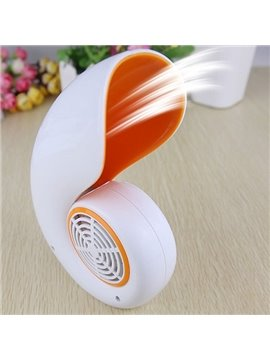 White Amusing Fashion Plastic USB Fan Desktop Decoration