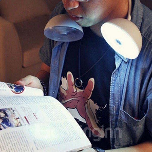 White Creative Headset Shape USB LED Night Light
