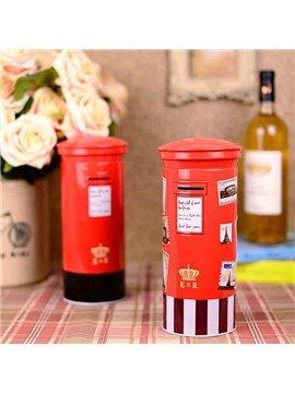 Red Simple Iron European Style Mailbox Shape Saving Pot