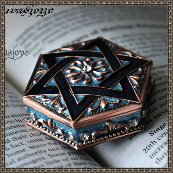 Delicate Hexagon European Style Decorative Jewelry Storage Box