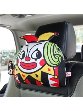 Funny Poker People Style And Most Comfortable Creative Car Pillow