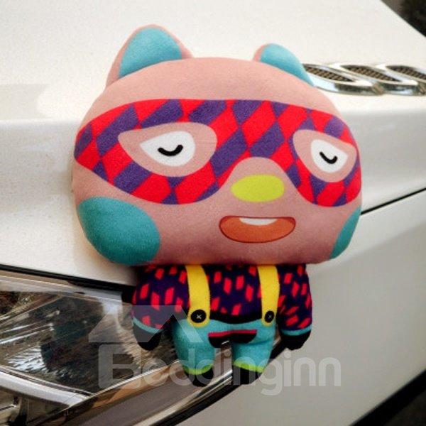 Funny Cartoon Rabbit With Glass Style Creative Car Pillow