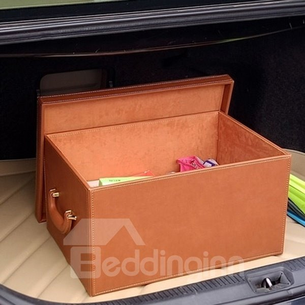 High Capacity Popular Design Solid Leather Material Trunk Organizer