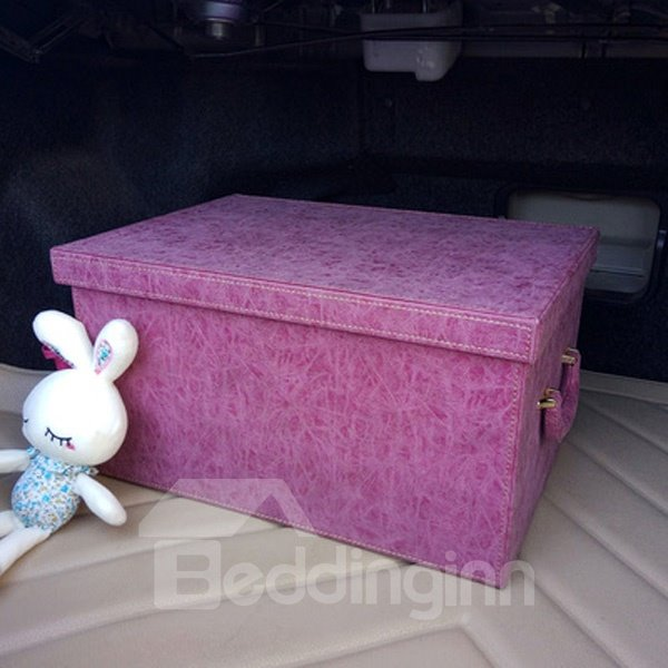 Solid Charming Design And Leather Material Trunk Organizer