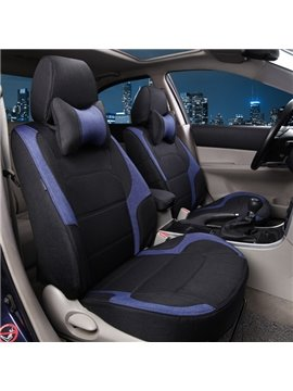 Popular Sport Design Black And Blue Color Matched Universal Car Seat Cover