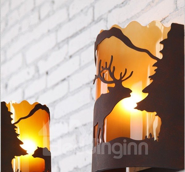 Retro American Country Resin Bear Wall Light