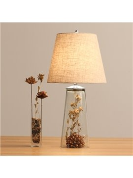 Personalized Retro Dried Flower Arrangement Table Lamp