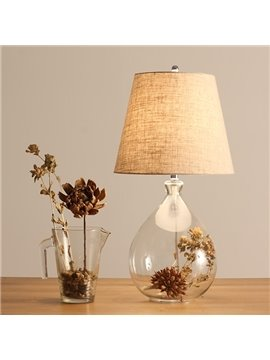 Minimalist Style Vintage Dried Flower Arrangement Table Lamp